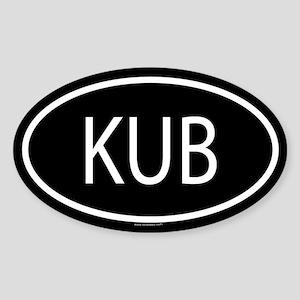 KUB Oval Sticker