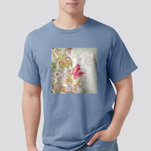 Ornamental Vintage Floral Pretty Butterfly T-Shirt