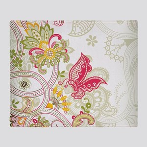 Ornamental Vintage Floral Pretty But Throw Blanket