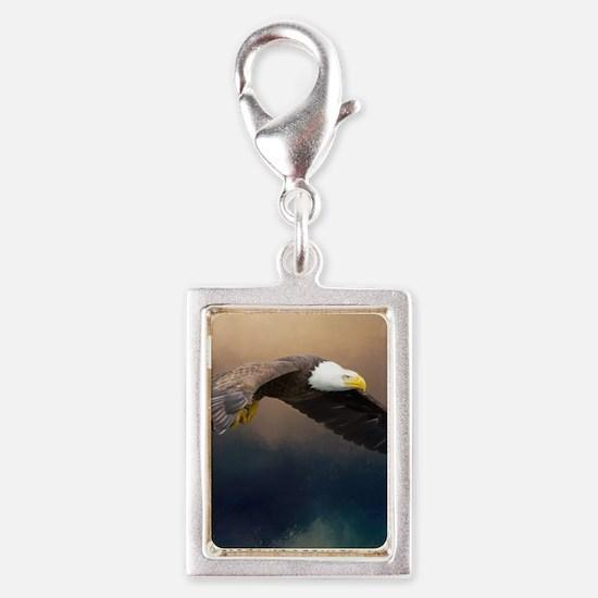 Flying american bald eagle Charms