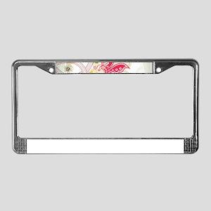 Ornamental Vintage Floral Pret License Plate Frame
