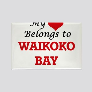 My Heart Belongs to Waikoko Bay Hawaii Magnets