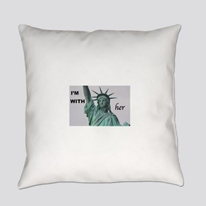 I'm with Lady Liberty Everyday Pillow