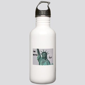 I'm with Lady Liberty Water Bottle