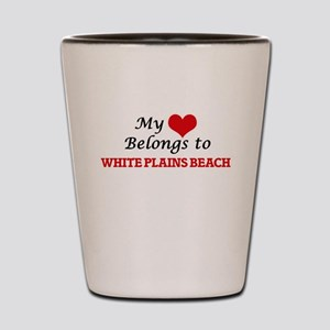 My Heart Belongs to White Plains Beach Shot Glass
