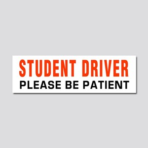 Student Driver Be Patient RED Car Magnet 10 x 3