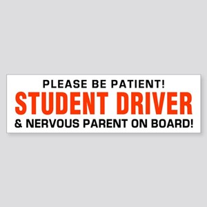 Student Driver and Parent Red Bumper Sticker