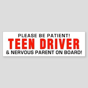 Teen Driver Parent Red Bumper Sticker