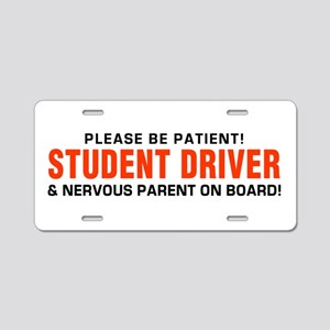 Student Driver and Parent R Aluminum License Plate