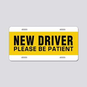 New Driver - Be Patient! Aluminum License Plate