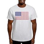 4 Wheeler in an American Flag Light T-Shirt