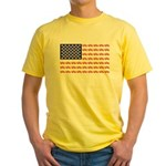 4 Wheeler in an American Flag Yellow T-Shirt