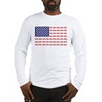 4 Wheeler in an American Flag Long Sleeve T-Shirt