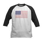 4 Wheeler in an American Flag Kids Baseball Tee