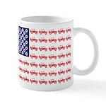 4 Wheeler in an American Flag 11 oz Ceramic Mug