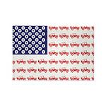 4 Wheeler in an American Flag Rectangle Magnet