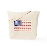 4 Wheeler in an American Flag Tote Bag