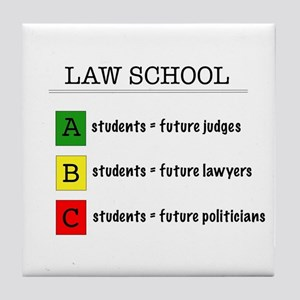 law student futures Tile Coaster