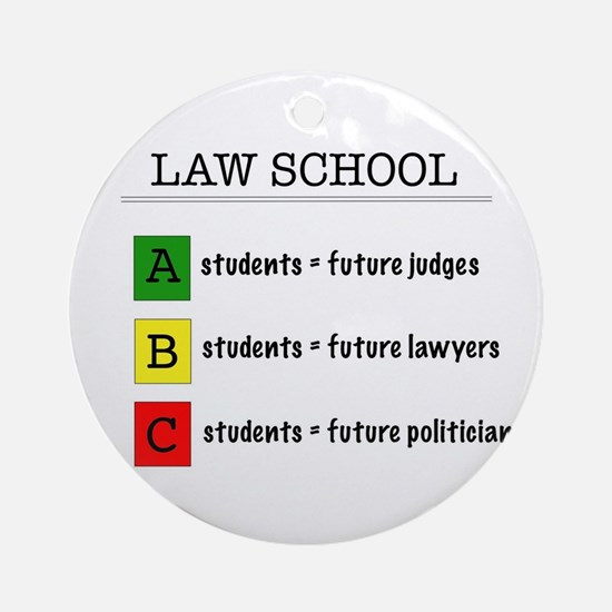 law student futures Round Ornament