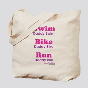 Triathlon Daddy Tote Bag