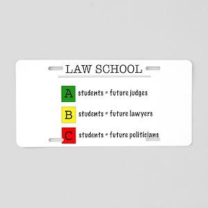 law student futures Aluminum License Plate