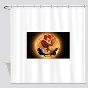 Amate / Love yourself Shower Curtain