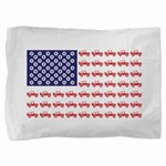 4 Wheeler in an American Flag Pillow Sham