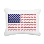 4 Wheeler in an American Rectangular Canvas Pillow