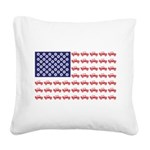 4 Wheeler in an American Flag Square Canvas Pillow