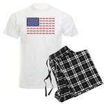 4 Wheeler in an American Flag Men's Light Pajamas