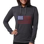 4 Wheeler in an American Flag Womens Hooded Shirt