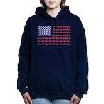 4 Wheeler in an American Women's Hooded Sweatshirt