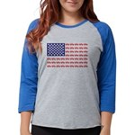 4 Wheeler in an American Flag Womens Baseball Tee