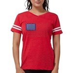 4 Wheeler in an American Fla Womens Football Shirt