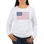 4 Wheeler in an Americ Women's Long Sleeve T-Shirt