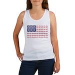 4 Wheeler in an American Flag Women's Tank Top