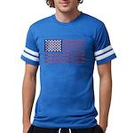 4 Wheeler in an American Flag Mens Football Shirt