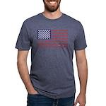 4 Wheeler in an American Fl Mens Tri-blend T-Shirt