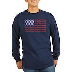 4 Wheeler in an American Long Sleeve Dark T-Shirt