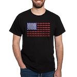 4 Wheeler in an American Flag Dark T-Shirt