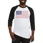 4 Wheeler in an American Flag Baseball Tee