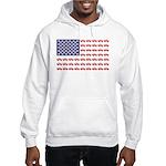 4 Wheeler in an American Flag Hooded Sweatshirt