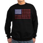 4 Wheeler in an American Flag Sweatshirt (dark)