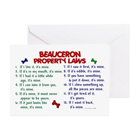 Beauceron Property Laws 2 Greeting Cards (Pk of 10