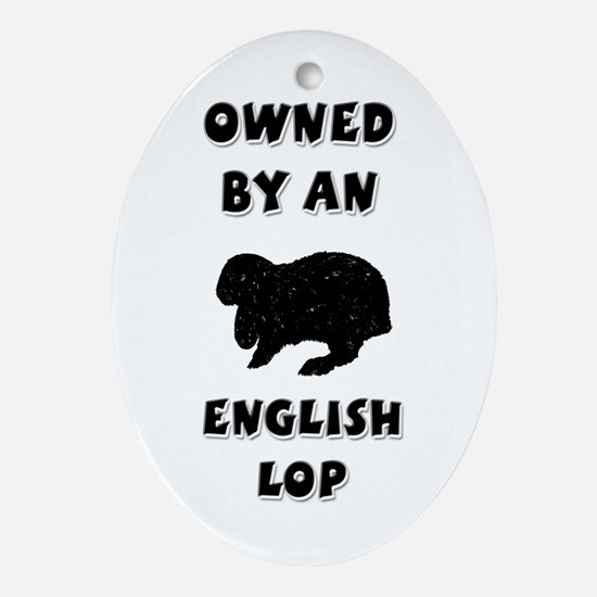 Owned by an English Lop Keepsake (Oval)