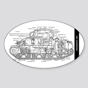 M4 SHERMAN CUTAWAY Sticker