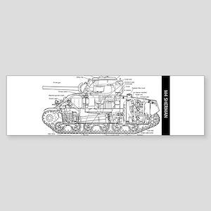 M4 SHERMAN CUTAWAY Bumper Sticker