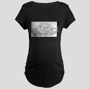 M4 SHERMAN CUTAWAY Maternity T-Shirt