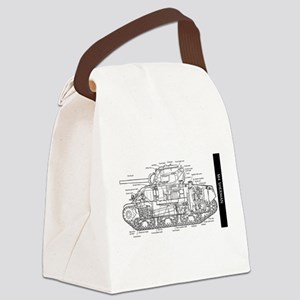 M4 SHERMAN CUTAWAY Canvas Lunch Bag