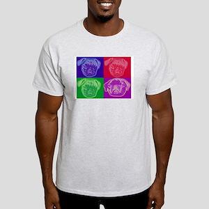 Pug Art Ash Grey T-shirt